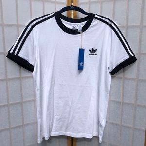NWT Adidas Women's Three Stripe White Tee
